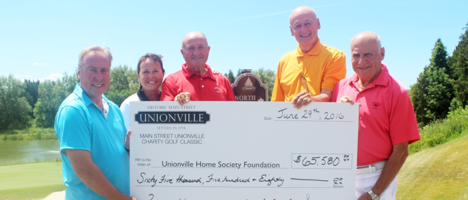 Check presentation at 2016 Golf